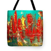 Red Nyc Tote Bag