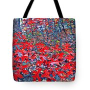Red  Oak Leaves  Tote Bag