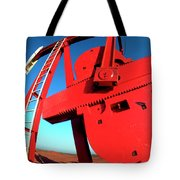 Red Oil Well Pump Oilfield Tote Bag