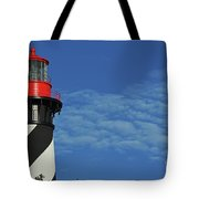 Red On Blue Skies Tote Bag