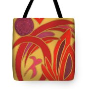 Red On Gold II Tote Bag