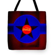 Red On Red With Blue Tote Bag