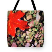 Red On The Rocks Tote Bag by Jeff Kolker