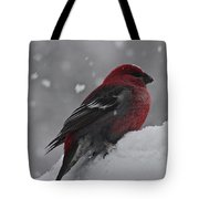 Red On White Tote Bag