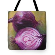 Red Onions Tote Bag