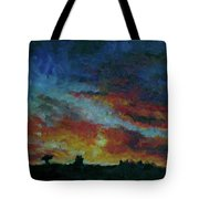 Red Orange Evening Tote Bag