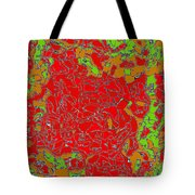 Red Orange Green Abstract Painting Tote Bag