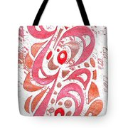 Red Orchid Cluster  Tote Bag
