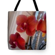 Red Orchid Flowers 01 Tote Bag