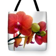 Red Orchid Flowers 02 Tote Bag