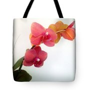 Red Pink Golden Orchid Flowers 03 Tote Bag