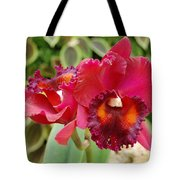 Red Orchid Tote Bag