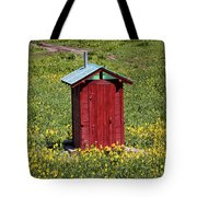 Red Outhouse 3 Tote Bag