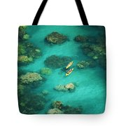Red Outrigger Canoe Tote Bag by Ron Dahlquist - Printscapes