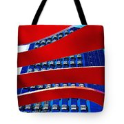Red Over Blue Tote Bag