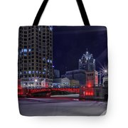 Red Over Ice Tote Bag