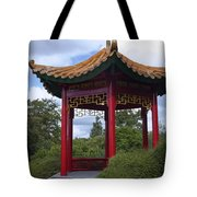 Red Pagoda Tote Bag
