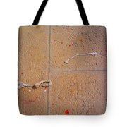 Red Paint Splash Tote Bag