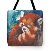 Red Panda Sleeping Tote Bag