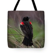 Red Patches Tote Bag