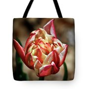 Red Peony Tulip Tote Bag