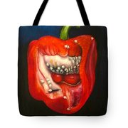 Red Pepper Oil Painting Tote Bag