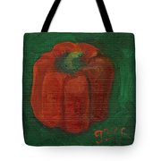 Red Pepper On Linen Tote Bag