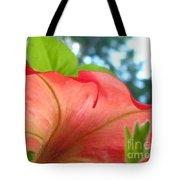 Red Petunia Swirl Tote Bag
