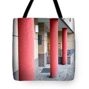 Red Pillars Tote Bag