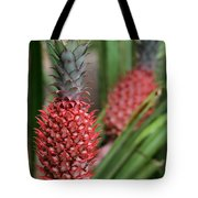 Red Pineapples Tote Bag
