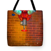 Red Pipe Tote Bag
