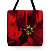 Red Poinsettia Floral Art Tote Bag