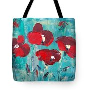 Red Poppies 2 Tote Bag