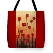 Red Poppies Decorative Art Tote Bag