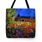 Red Poppies In Houroy Tote Bag