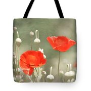 Red Poppies Tote Bag by Kim Hojnacki