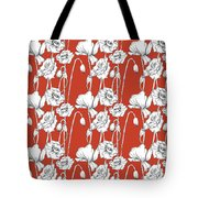 Red Poppies Tote Bag