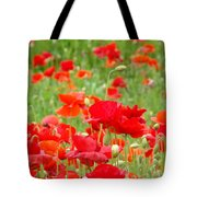 Red Poppy Flowers Meadow Art Prints Poppies Baslee Troutman Tote Bag