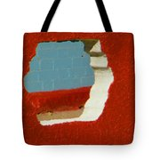 Red Porch Grey Wall Tote Bag