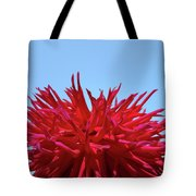 Red Purple Dahlia Flower Art Print Giclee Baslee Troutman Tote Bag
