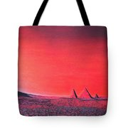 Red Pyramid W Tote Bag