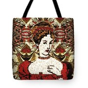 Red Queen Baroque Tote Bag