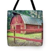 Red Rail Barn Tote Bag