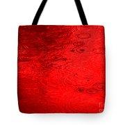 Red Rain Droplets Tote Bag