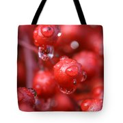 Red Rain Tote Bag