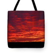 Red Ray Sunset Tote Bag