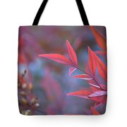 Red Red Leaves Tote Bag