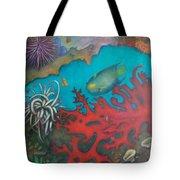Red Reef Tote Bag by Lynn Buettner