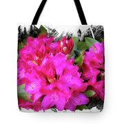 Red Rhododendron Flowers Tote Bag