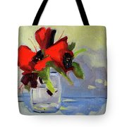 Red Rhody Tote Bag